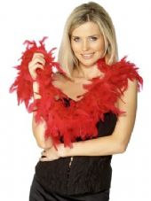 Red Feather Boa 1.8m